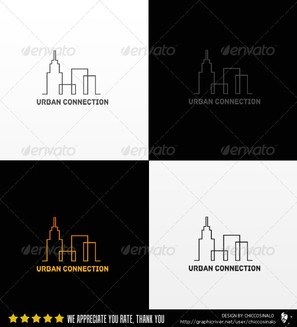 Urban Connection Logo Template - Buildings Logo Templates