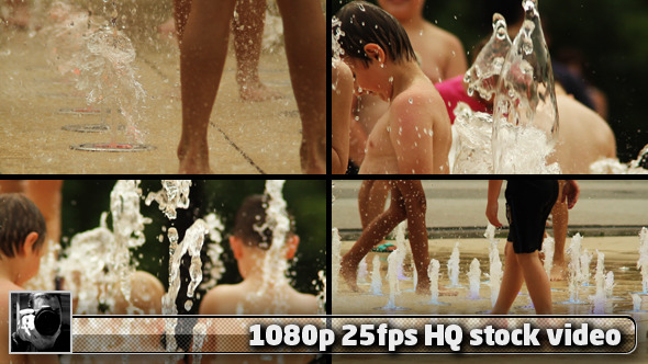 VideoHive Kids Are Playing In The Fountain Pack 2914636