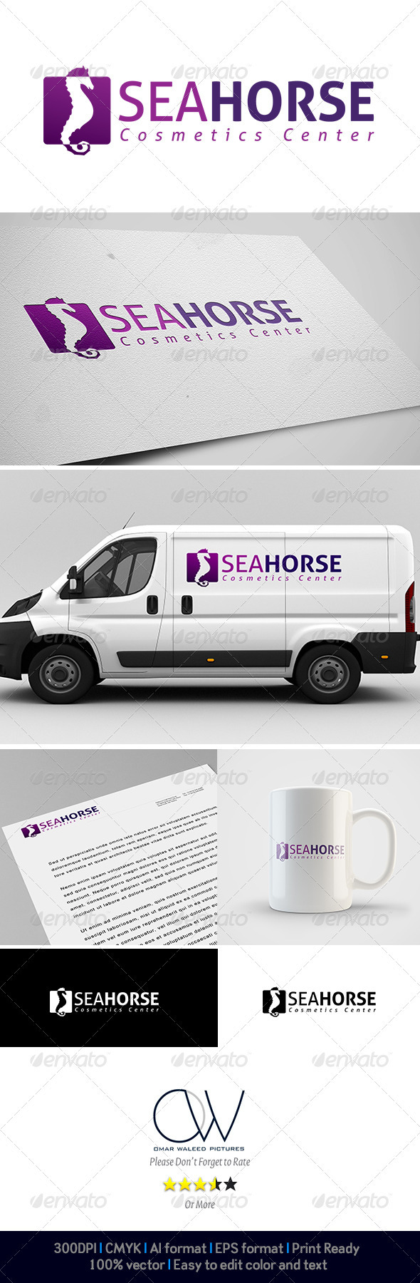 Sea Horse Logo - Animals Logo Templates