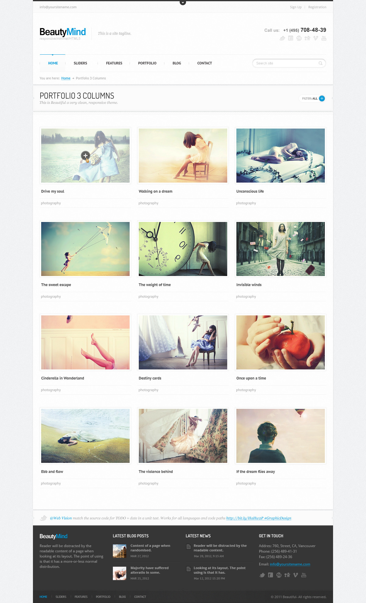 BeautyMind - Responsive and Clean WordPress Theme