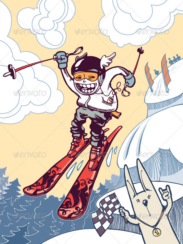 Brave Ski Freerider - Characters Illustrations
