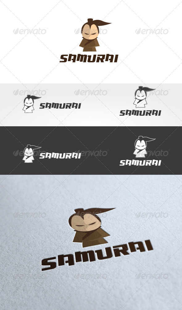 Samurai Logo Template - Humans Logo Templates