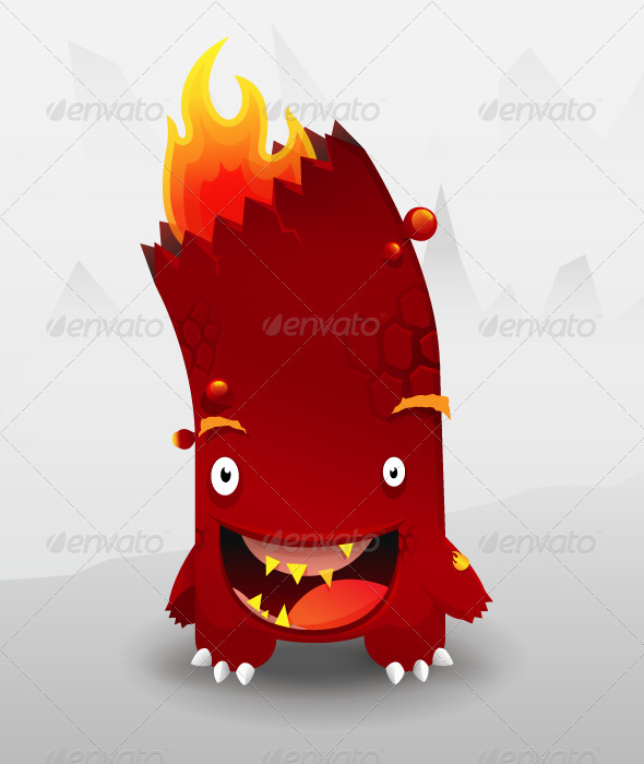 Cute Fire Monster - Monsters Characters
