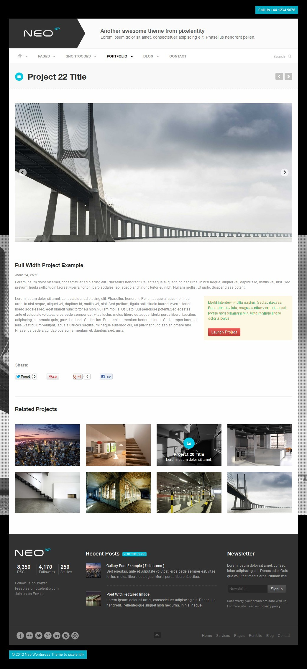 NEO Premium Responsive Business WordPress Theme