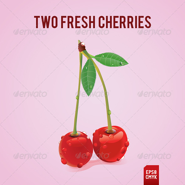 Fresh Cherries - Organic objects Objects