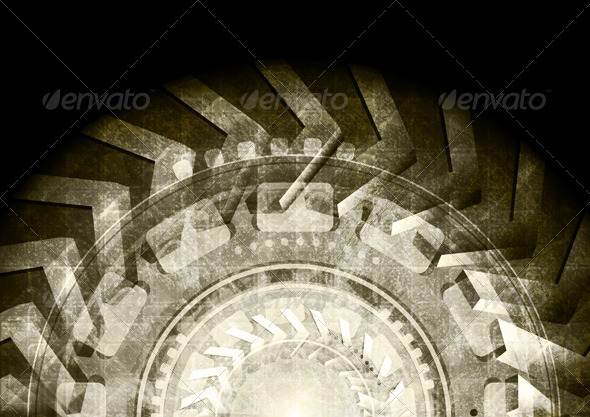 Abstract grunge background - Technology Conceptual