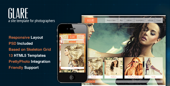 Glare - Photography Portfolio Site Template
