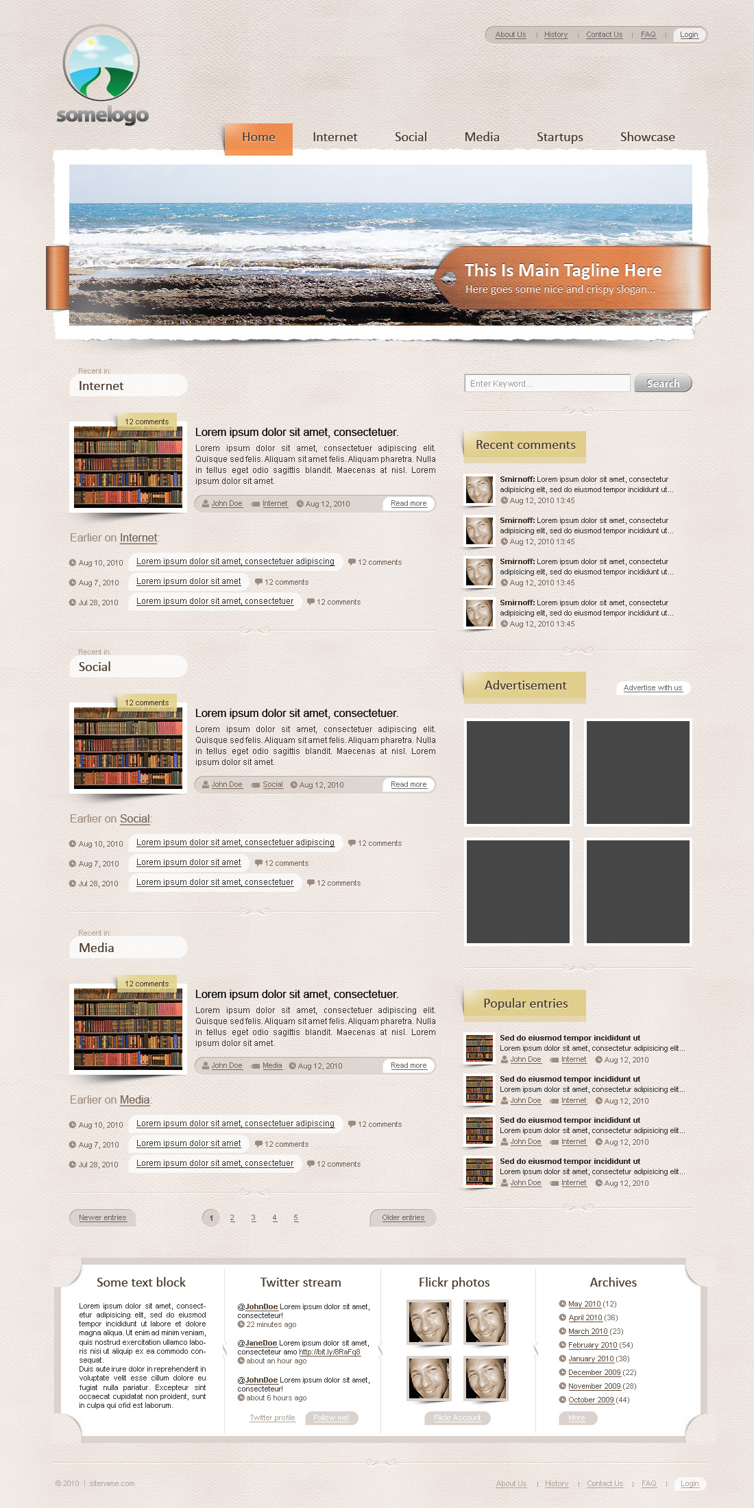 Appealing blog template