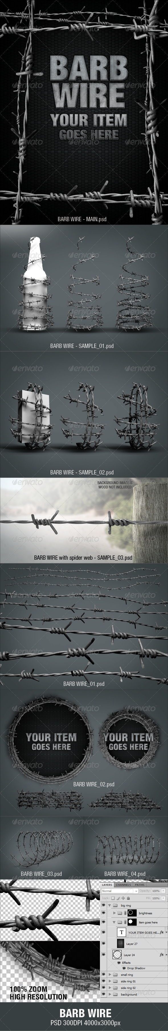 GraphicRiver Barb Wire 2918136