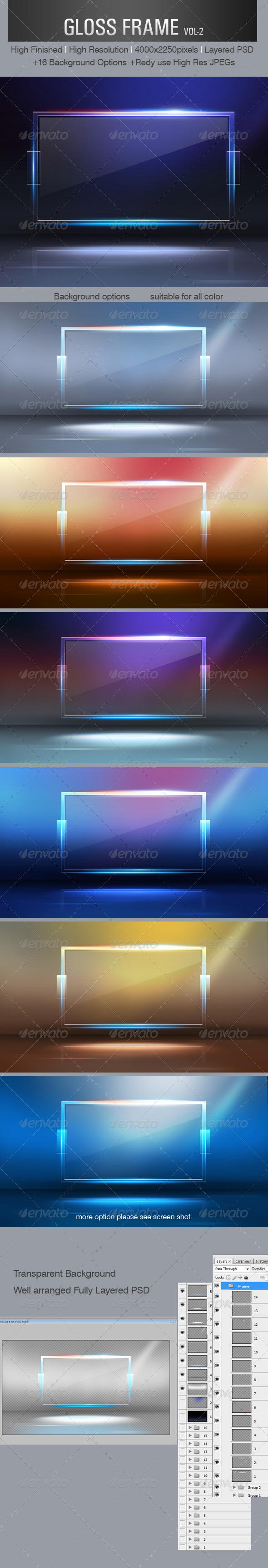 Gloss Frame - 3D Backgrounds