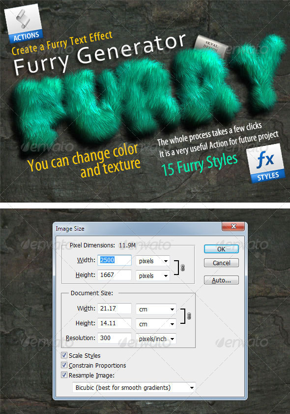 Furry Generator - Actions Photoshop