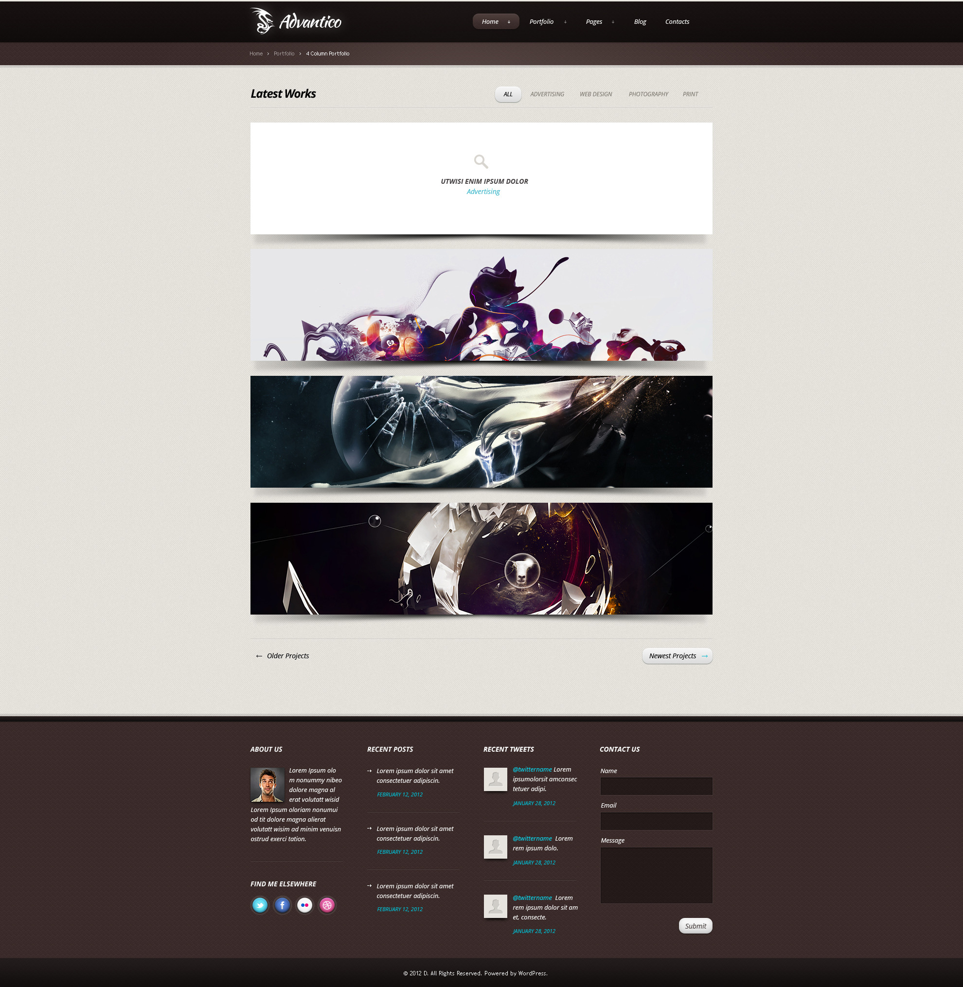Advantico Wordpress Theme