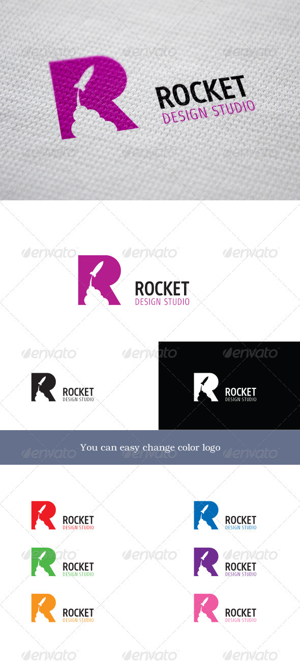 Rocket Design Studio - Letters Logo Templates