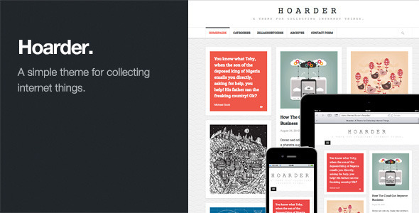 Hoarder: Responsive WordPress Blog Theme - Personal Blog / Magazine