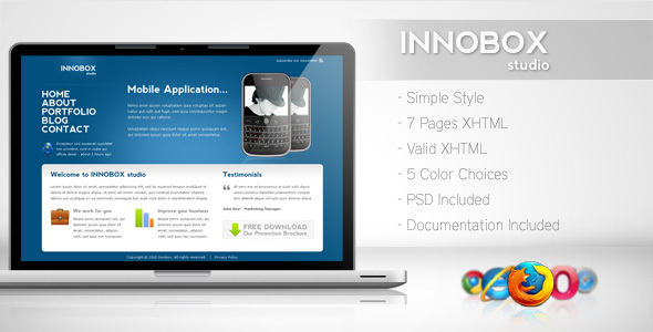 ThemeForest Innobox Simple Business Template 2 81411