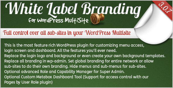 CodeCanyon White Label Branding for WordPress Multisite 162193