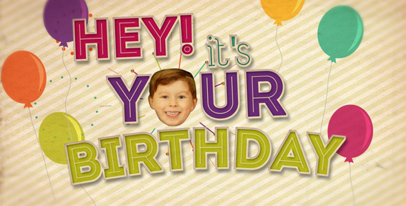 After Effects Project - VideoHive Hey It's Your Birthday 2920579