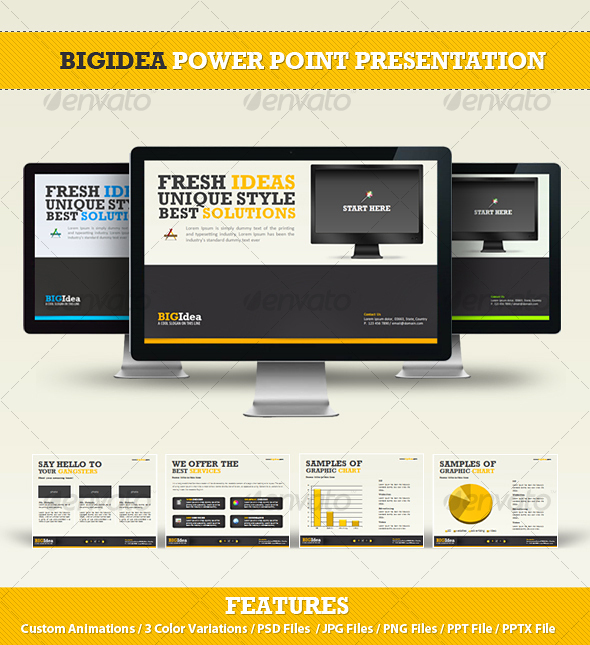 BIGIdea Power Point Presentation - Powerpoint Templates Presentation Templates