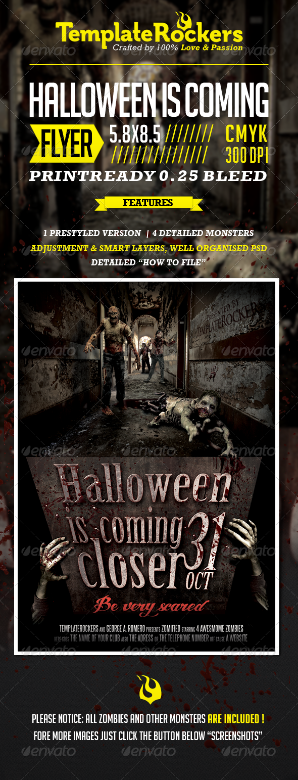 Halloween Is Coming Closer Flyer  - Holidays Events
