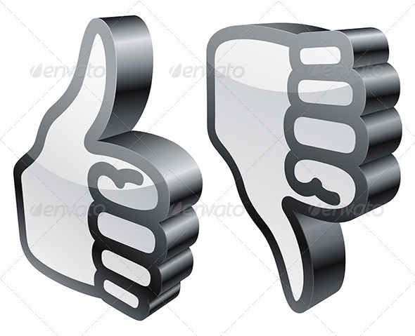 Thumbs Up and Down - Web Elements Vectors