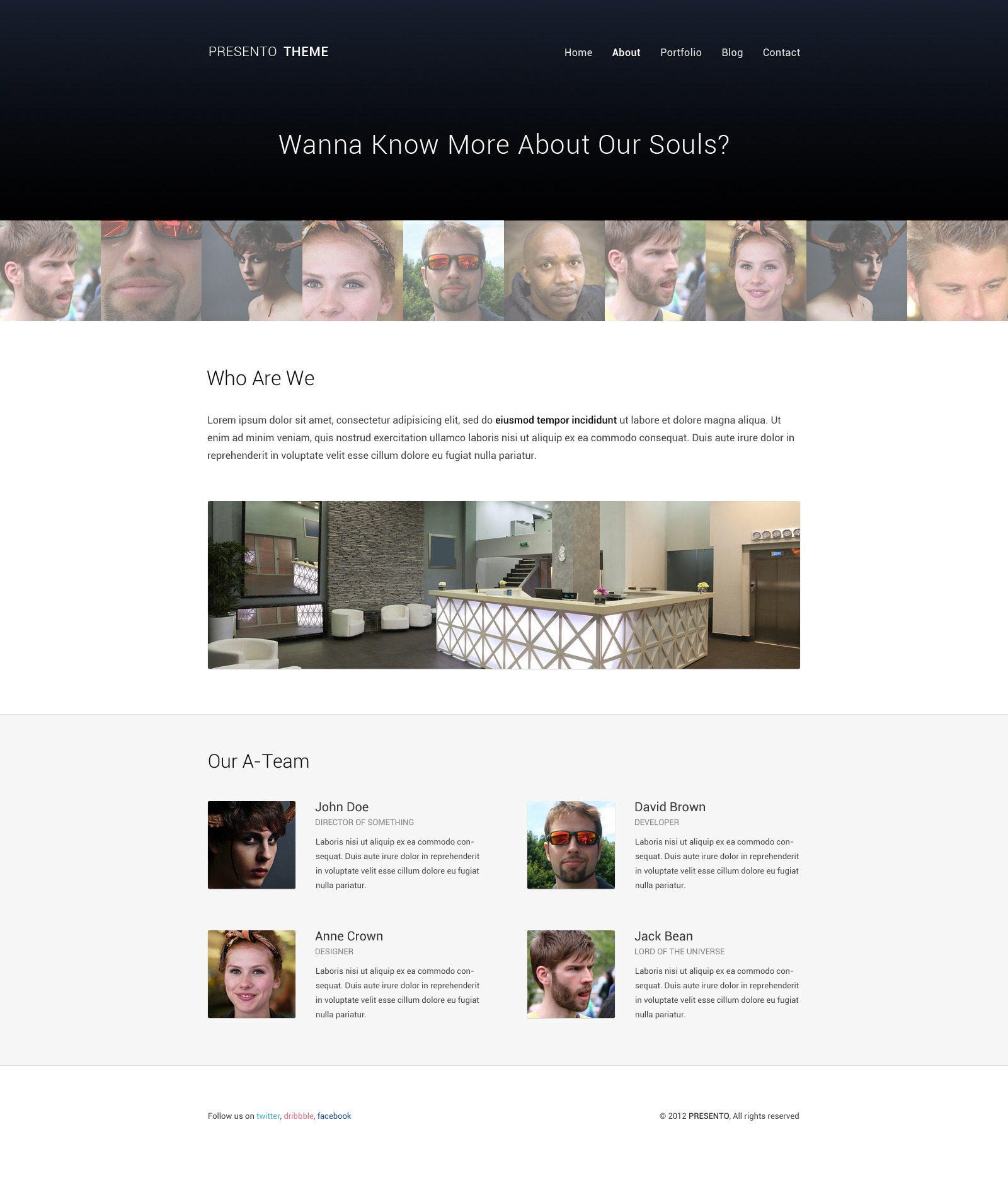 Presento - Responsive Portfolio Theme
