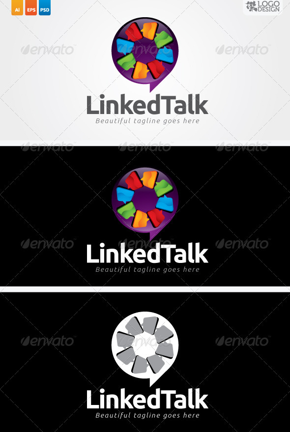 Linked Talk - Symbols Logo Templates