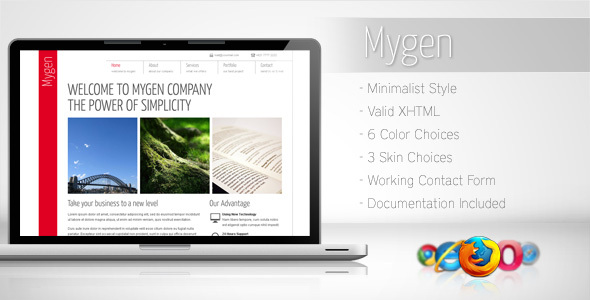 Mygen - Minimalist Business Template 2 - Corporate Site Templates