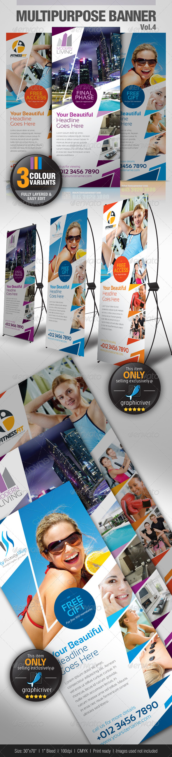 Multipurpose Banner Vol.4 - Signage Print Templates