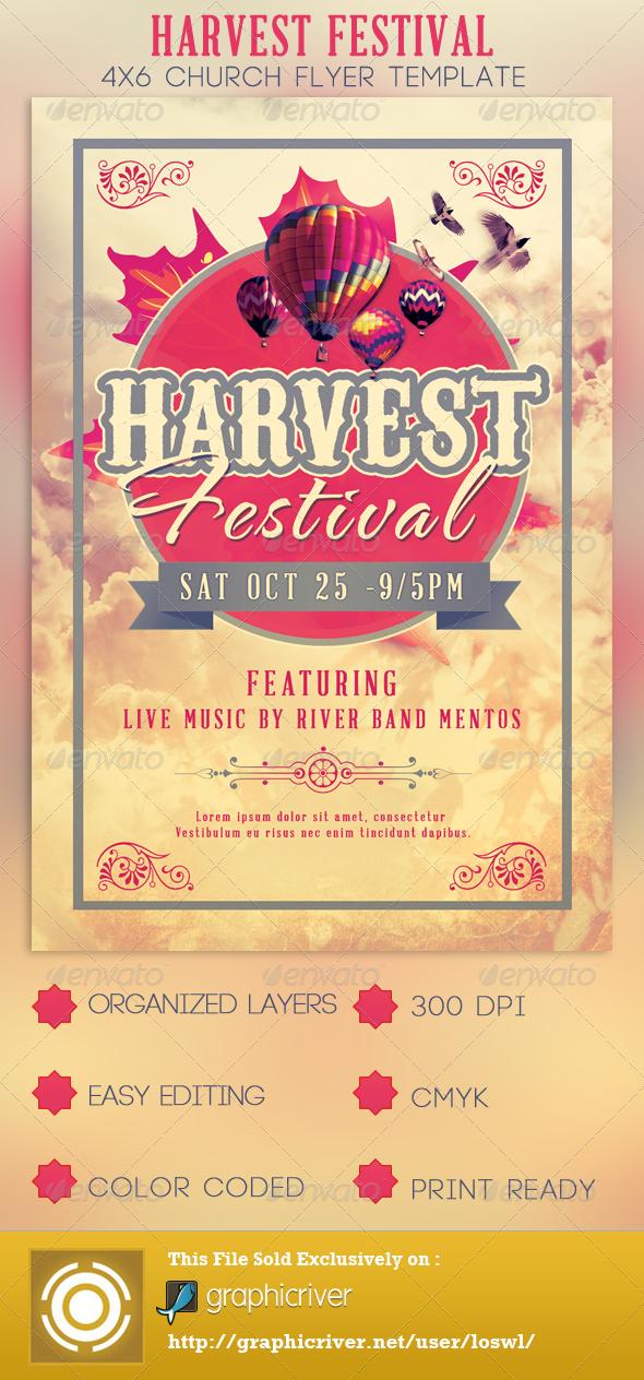 GraphicRiver Harvest Festival Church Flyer Template 2925085