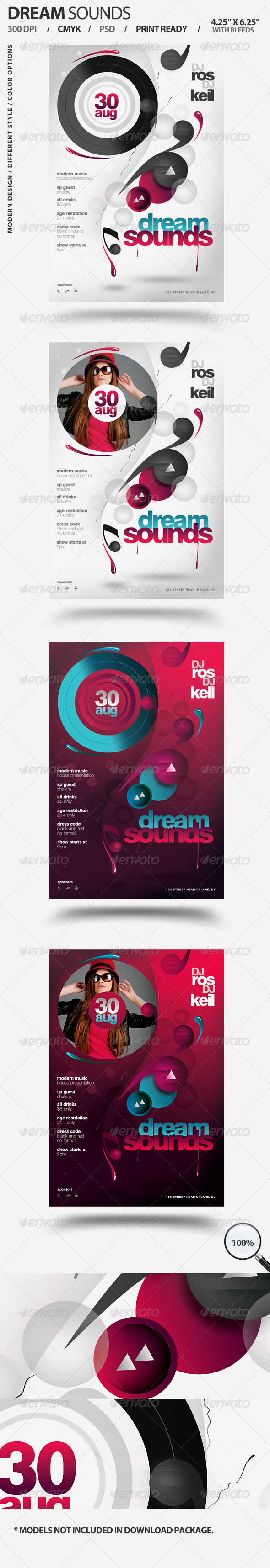 Dream Sounds Party Flyer - Clubs & Parties Events