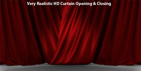 VideoHive Very Realistic HD Curtain Opening & Closing 223160