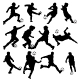 Vector Soccer Silhouettes - GraphicRiver Item for Sale