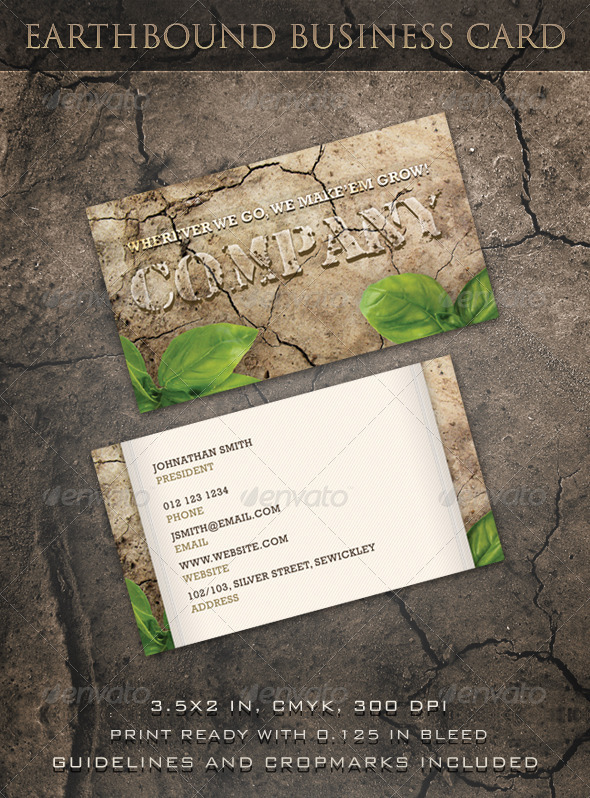 Earthbound Business Card - Creative Business Cards