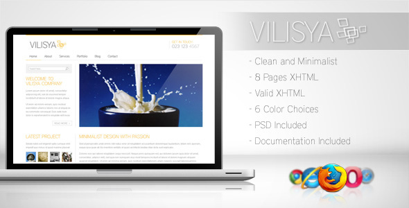 Vilisya - Minimalist Business Template 3 - Corporate Site Templates