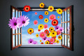 Window of Fowers - PhotoDune Item for Sale