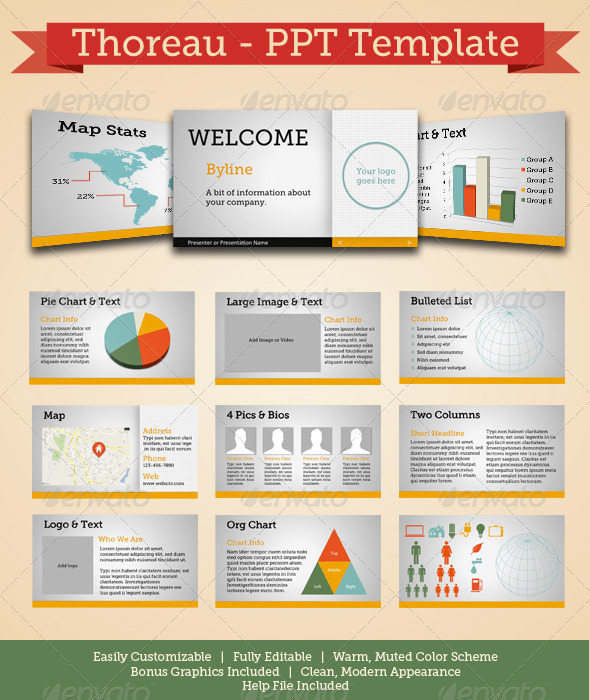 Thoreau - Modern Powerpoint Template - Powerpoint Templates Presentation Templates