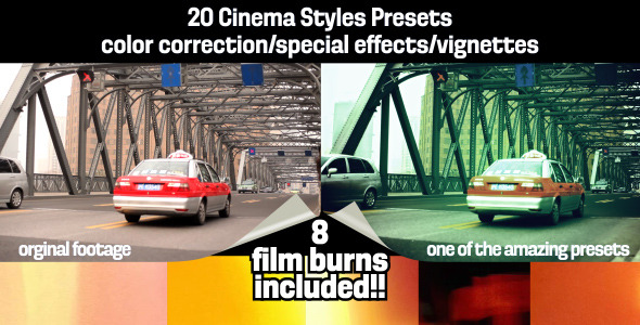 Cinema Styles Presets & Film Burns VideoHive -   Elements  Overlay  Light 306460