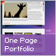 One Page Portfolio With Fullscreen Scroll - ActiveDen Item for Sale