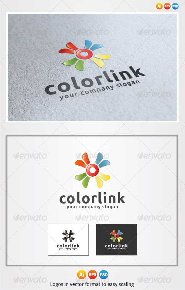Color Link - Symbols Logo Templates