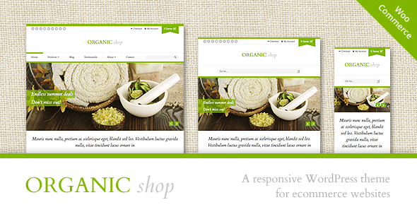 Organic shop responsive woocommerce theme by for Cosmetology portfolio template