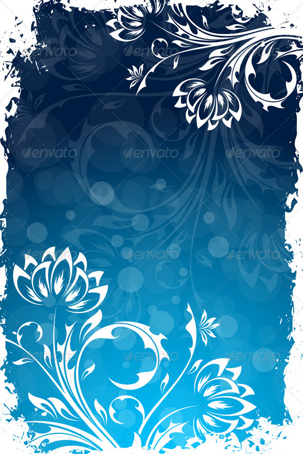 Grungy Floral Background - Flowers & Plants Nature