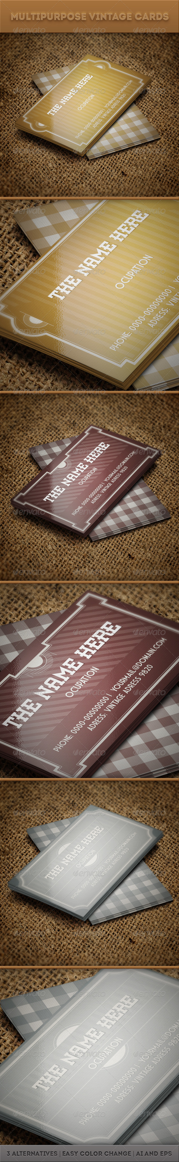 Multipurpose Vintage Cards - Retro/Vintage Business Cards