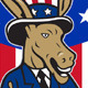 Democrat Donkey Mascot Thumbs Up Flag - GraphicRiver Item for Sale