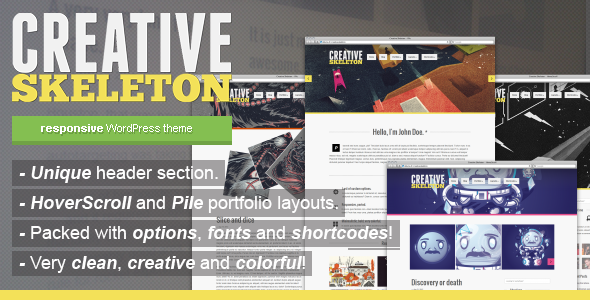 Creative Skeleton - responsive WordPress theme