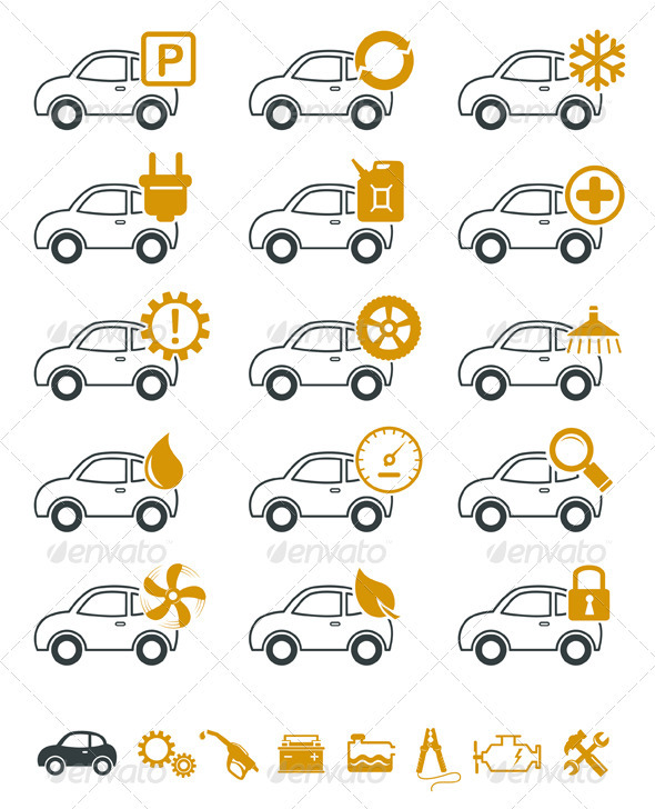 GraphicRiver Car Repair And Service Icons 2938164