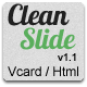 Clean Slide Responsive HTML Template / Vcard - ThemeForest Item for Sale