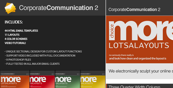 Corporate Communication 2  - Newsletters Email Templates