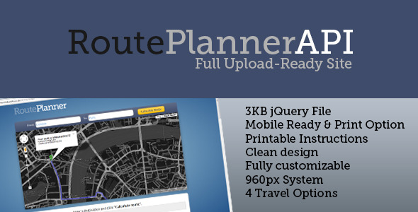 CodeCanyon RoutePlanner API 2941137
