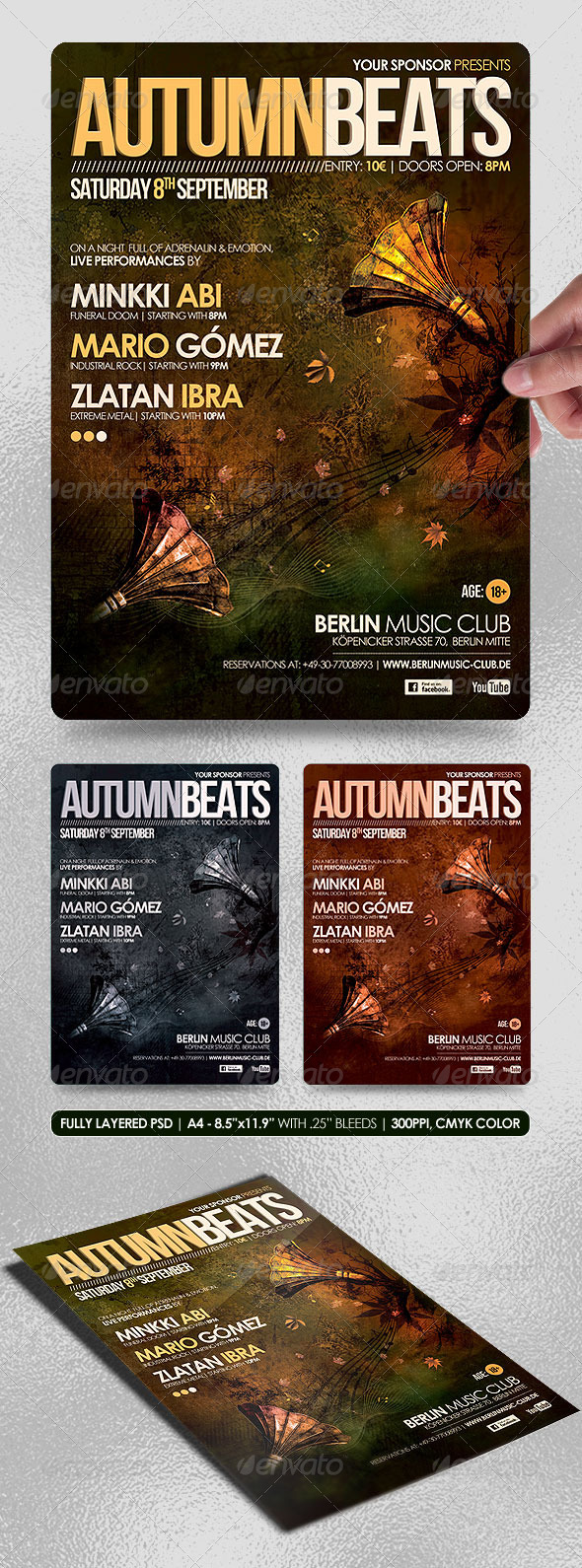 Autumn Beats Poster/Flyer - Concerts Events