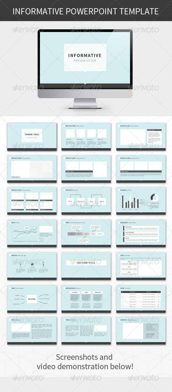 Informative PowerPoint Template - Powerpoint Templates Presentation Templates